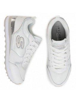 Comprar Online Sneakers Skechers Originals OG 85, modelo 111, color blanco WSL, vista aerea