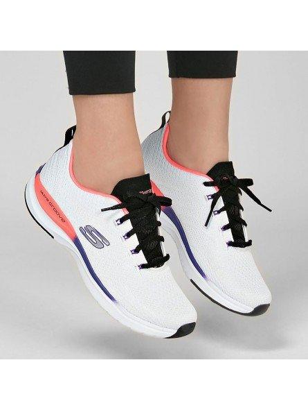 Comprar Online Zapatillas Skechers Ultra Groove Pure Vision, modelo 149022, blanco multicolor WMLT, vista portada