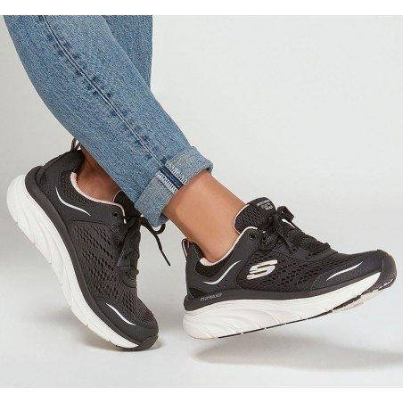 Comprar Online Zapatillas deportivas Skechers Relaxed Fit D'Lux Walker Infinite Motion, modelo 149023, color negro BKPK, portada