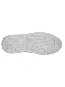Comprar Online Zapato Mocasín Skechers Status 2.0 Mosent sin cordones, modelo 66014, color azul BLU, vista de la suela