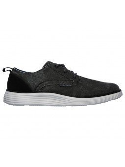 Comprar Online zapatos Skechers Classic Fit Status 2.0 Pexton, modelo 65910, color negro BLK, vista lateral exterior