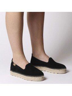 Comprar Online Alpargatas Toni Pons planas, modelo espardeña Aurem, color negro, vista portada