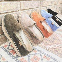 Comprar Online Alpargatas Toni Pons planas, modelo espardeña Aurem, color azul, vista variedad de colores