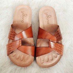 Comprar Online Sandalia plana Yokono Shoes, modelo playera Ibiza 131, color nuez, vista aerea