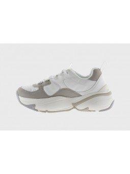 Comprar Online Sneaker Victoria con plataforma, modelo 147104, color blanco-gris, vista lateral interior