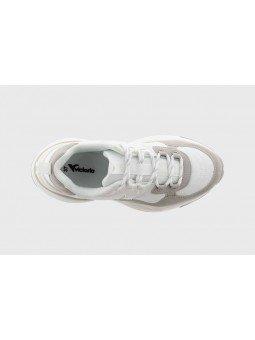 Comprar Online Sneaker Victoria con plataforma, modelo 147104, color blanco-gris, vista aerea