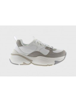 Comprar Online Sneaker Victoria con plataforma, modelo 147104, color blanco-gris, vista lateral exterior