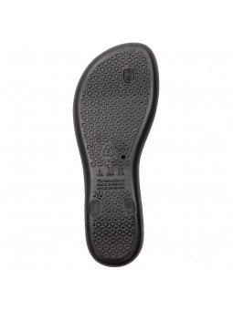 Comprar chanclas planas cojidas Ipanema Cham VII Fem, modelo 82760, color negro, vista  de la suela