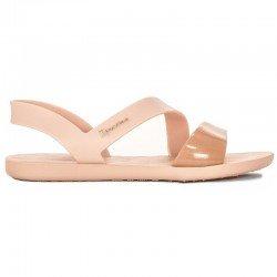 Comprar chanclas planas cojidas Ipanema Vibe Sandal Fem, modelo 82429, color rosa, vista lateral exterior
