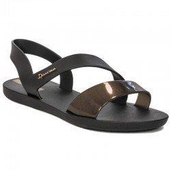 Comprar chanclas planas cojidas Ipanema Vibe Sandal Fem, modelo 82429, color negro, vista lateral