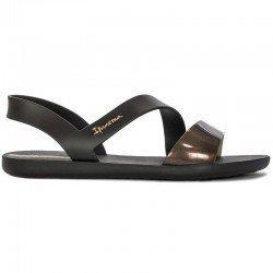 Comprar chanclas planas cojidas Ipanema Vibe Sandal Fem, modelo 82429, color negro, vista lateral exterior