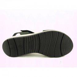 Sandalia con plataforma Sergiotti by calzature, modelo 8-216, color negro, vista de la suela