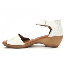Comprar Online sandalia con cuña SERGIOTTI, modelo N6-566, color blanco, vista lateral interior
