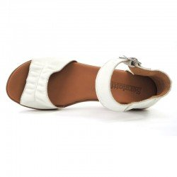 Comprar Online sandalia con cuña SERGIOTTI, modelo N6-566, color blanco, vista aerea