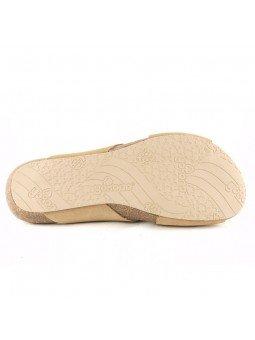 Comprar Online Sandalia plana Yokono shoes, color camel, modelo Ibiza 125, vista de la suela