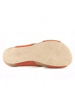 Comprar Online Sandalia plana Yokono shoes, color camel, modelo Ibiza 125, vista frontalvista suela