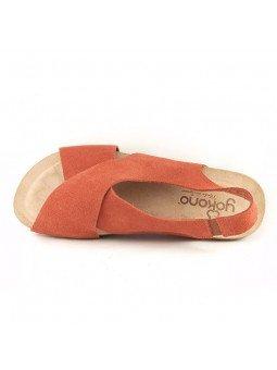 Comprar Online Sandalia plana Yokono shoes, color camel, modelo Ibiza 125, vista aerea