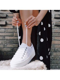 Comprar Zapatillas Victoria con plataforma, modelo 92128 sneakers, color blanco, vista portada