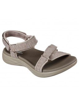 Comprar Online Sandalias Skechers On The Go 600 Radiant, modelo 15315, color taupe TPE, vista de portada