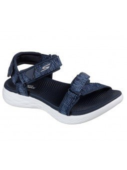 Comprar Online Sandalias Skechers On The Go 600 Radiant, modelo 15315, color marino NVY, vista de portada