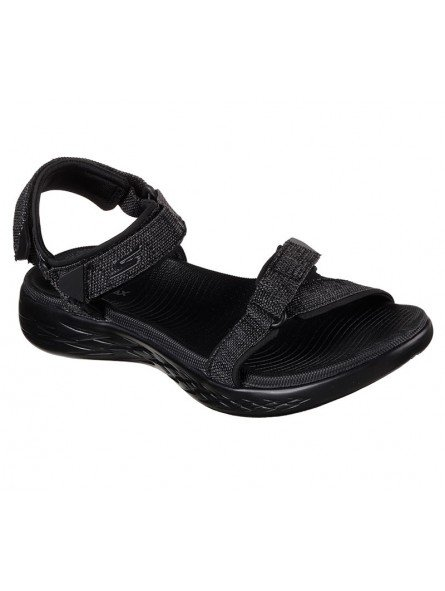 Comprar Online Sandalias Skechers On The Go 600 Radiant, modelo 15315, color negro BBK, vista de portada