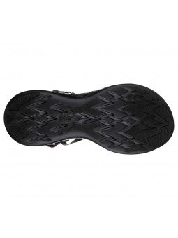 Comprar Online Sandalias Skechers On The Go 600 Radiant, modelo 15315, color negro BBK, vista de la suela