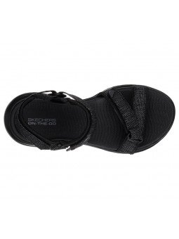 Comprar Online Sandalias Skechers On The Go 600 Radiant, modelo 15315, color negro BBK, vista aerea