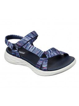 Comprar Online Sandalias Skechers On The Go 600 Electric, modelo 143013, multicolor marino NVMT, vista de portada
