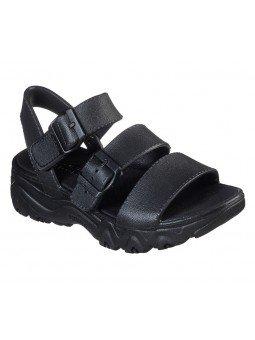 Comprar Sandalia Skechers Cali Gear D´Lites 2 Style Icon, modelo 111061, color negro, vista frontal