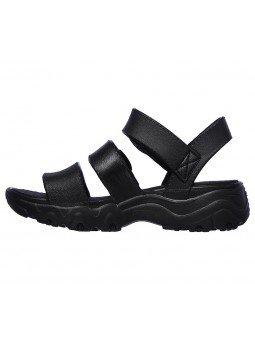 Comprar Sandalia Skechers Cali Gear D´Lites 2 Style Icon, modelo 111061, color negro, vista lateral interior