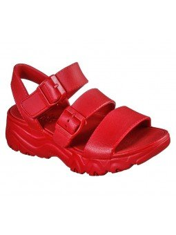 Comprar Sandalia Skechers Cali Gear D´Lites 2 Style Icon, modelo 111061, color rojo, vista frontal
