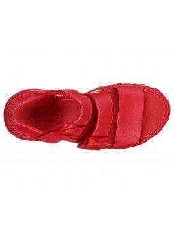 Comprar Sandalia Skechers Cali Gear D´Lites 2 Style Icon, modelo 111061, color rojo, vista aerea