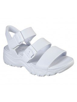 Comprar Sandalia Skechers Cali Gear D´Lites 2 Style Icon, modelo 111061, color blanco, vista frontal