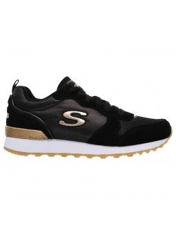 Comprar Online Sneakers Skechers Originals OG 85, modelo 111, color negro BLK, vista lateral exterior