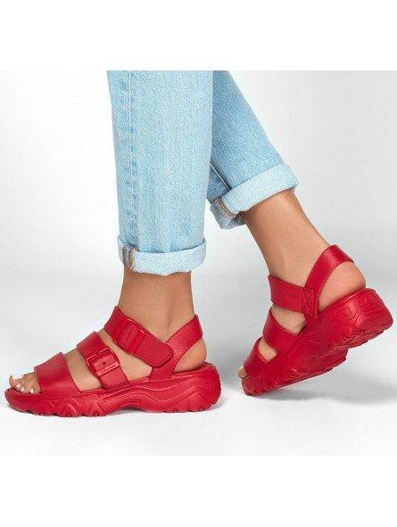 Comprar Sandalia Skechers Cali Gear D´Lites 2 Style Icon, modelo 111061, color rojo, vista de portada