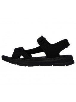 Comprar Sandalia Skechers relaxed fit relone senco, modelo 66067, color negro, vista lateral interior