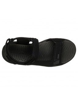 Comprar Sandalia Skechers relaxed fit relone senco, modelo 66067, color negro, vista aerea