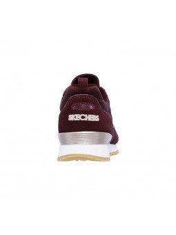 Comprar Online Sneakers Skechers Originals OG 85, modelo 111, color Burdeos BURG, vista del talón