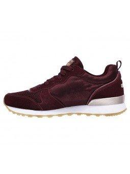 Comprar Online Sneakers Skechers Originals OG 85, modelo 111, color Burdeos BURG, vista lateral interior