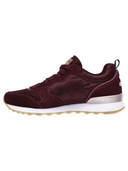 Comprar Online Sneakers Skechers Originals OG 85, modelo 111, color Burdeos BURG, vista lateral interior