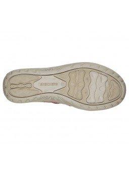 Sandalias cerradas Skechers relaxed fit reggae fest hooked, modelo 158005, color beige-rosa ttpk, vista de la suela.