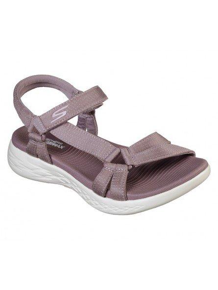 Comprar sandalias deportivas skechers on the go 600 Brilliancy, modelo 15316, color malva ldmv, vista portada