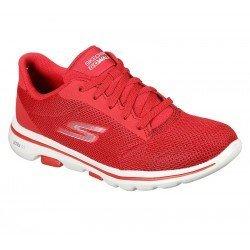 zapatillas skechers 15902, color rojo, go walk 5, vista general