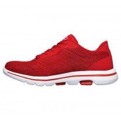 zapatillas skechers 15902, color rojo, go walk 5, vista lateral interior
