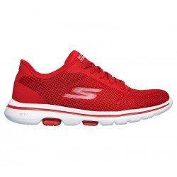 zapatillas skechers 15902, color rojo, go walk 5, vista lateral