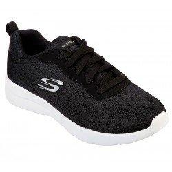 Zapatillas skechers sport, modelo 12963, color negro BLK, vista portada