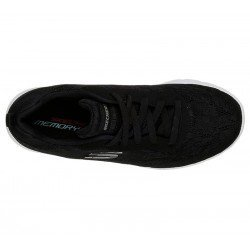 Zapatillas skechers sport, modelo 12963, color negro BLK, vista superior