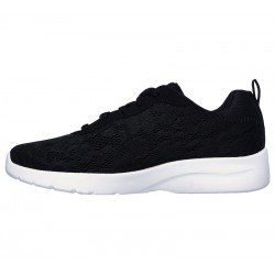 Zapatillas skechers sport, modelo 12963, color negro BLK, vista lateral interior