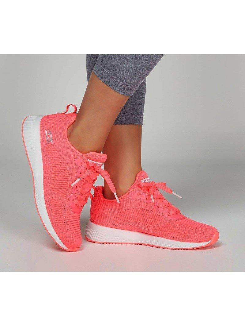 zapatillas skechers, bobs sport squad 33162, rosa, portada
