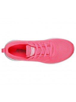zapatillas skechers, bobs sport squad 33162, rosa, vista superior